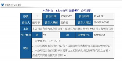 和碩鎧勝-KY明日暫停交易 傳與中國立訊相關