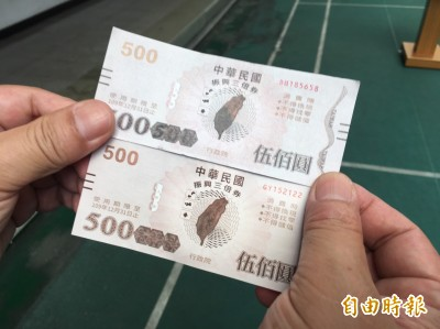偽造三倍券「水準很低」  央行:一摸就知道是假券