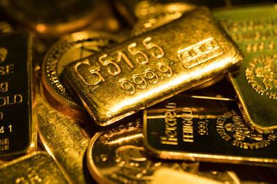 美股崩跌、市場急套現 黃金跌至1週低點