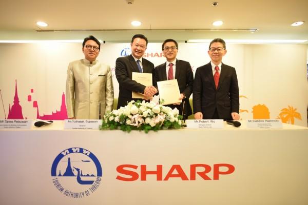 南向官民合作首例 夏普與泰國觀光局簽署MOU