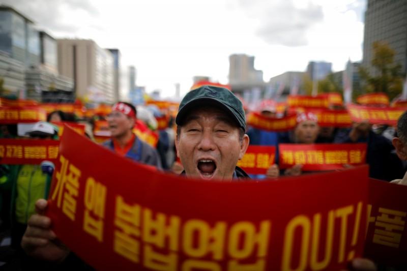 南韓運將怒了! 6萬司機上街怒吼反共乘