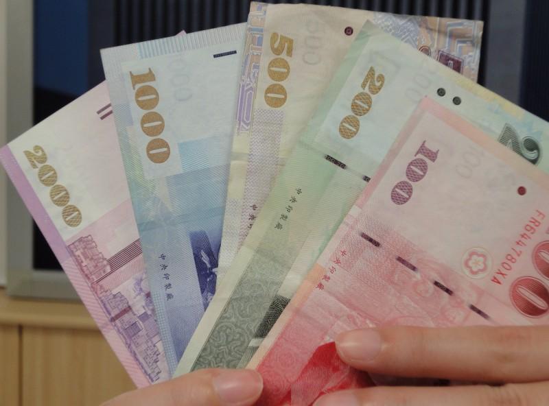 股匯雙升 新台幣午盤升值6.5分