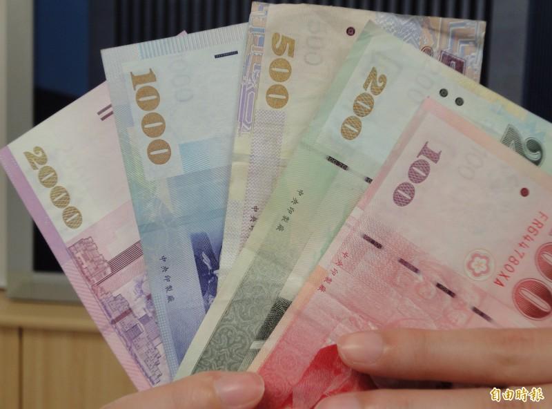 新台幣收盤  貶值2.4分