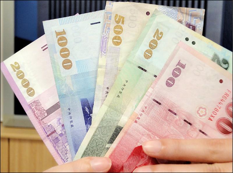 美元回升 台幣貶2.1分 收30.856元