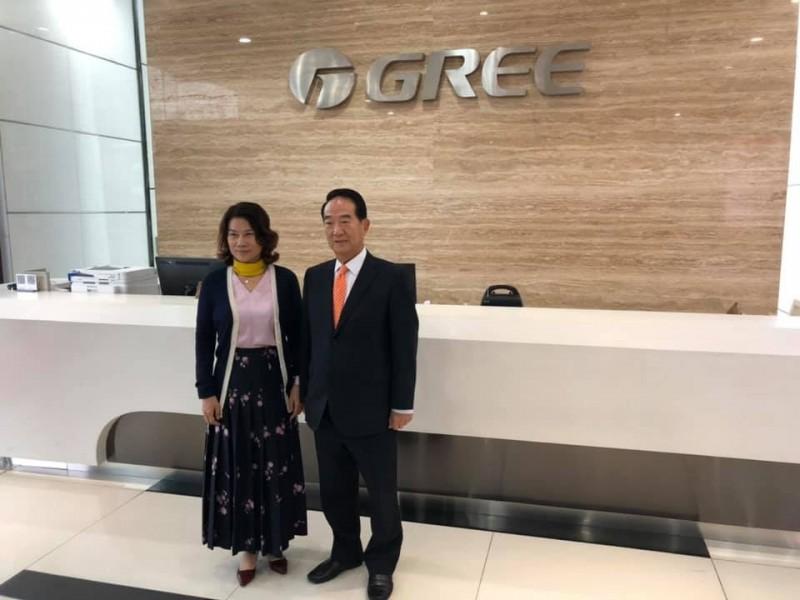 與宋楚瑜參訪中國格力電器 謝金河:市值遠超過鴻海