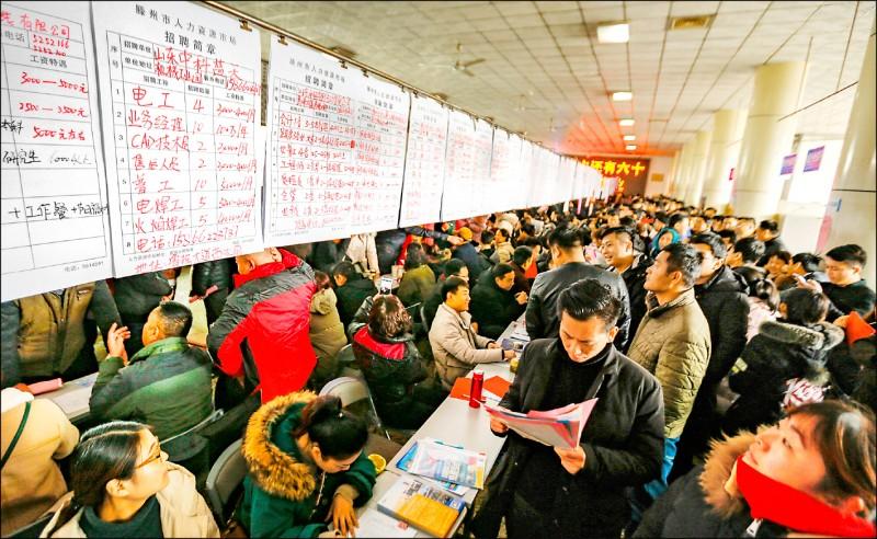就業5年最差 中國經濟反彈是假