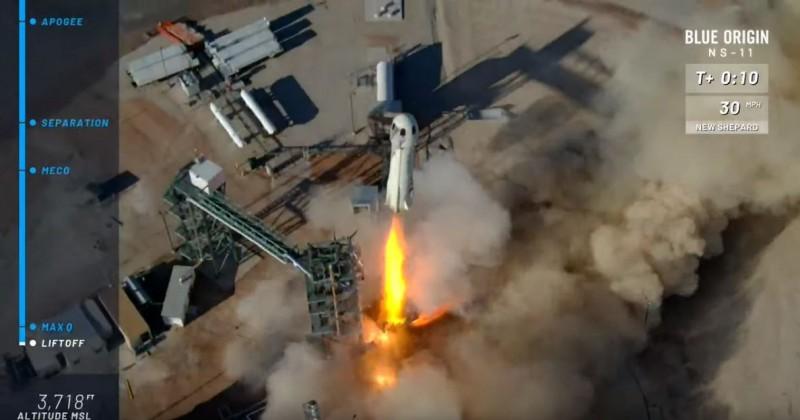 貝佐斯「藍色起源」再次成功試飛火箭 載人飛行更進一步