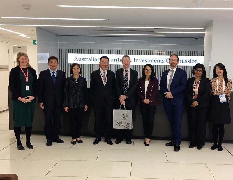 顧立雄赴澳洲  與美日英7國證券首長進行雙邊會談
