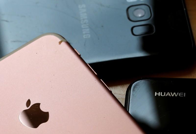 對日美韓零件依存度調查:華為近5成 蘋果近8成