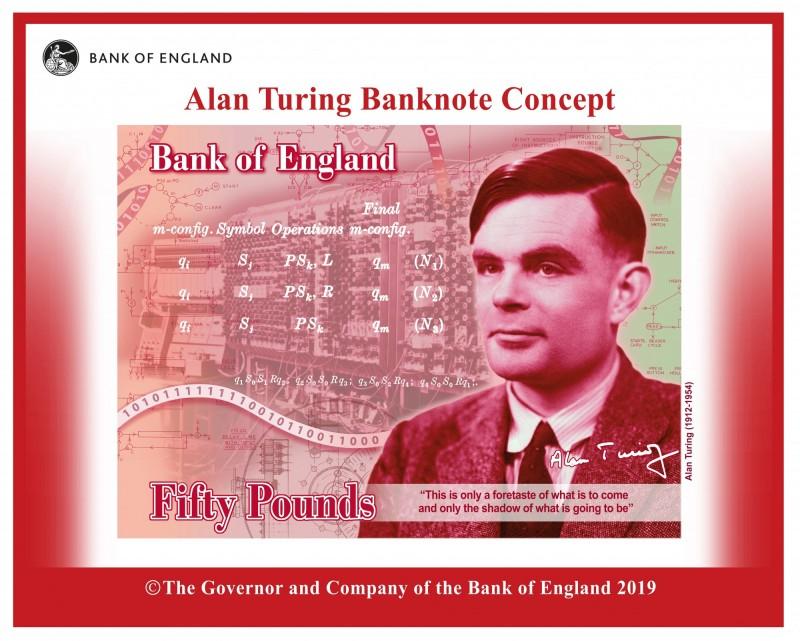 英國50鎊鈔票肖像換人 這位「天才」擊敗霍金勝出!
