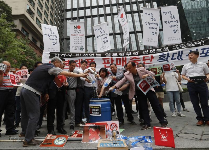 抗議出口管制!南韓店家上街抵制日貨