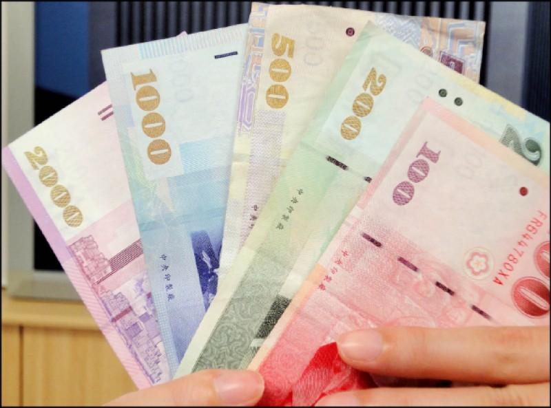 台幣終結連3升 貶3.7分收31.4元