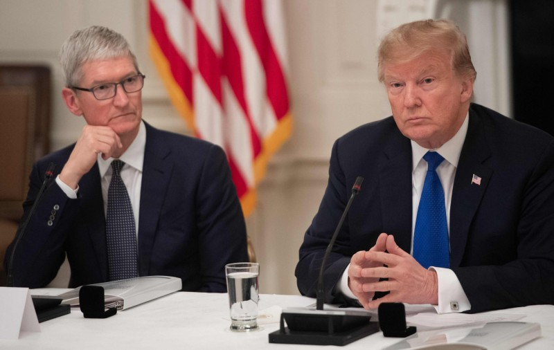 貿易戰打到蘋果 庫克示警 :三星可從中取優勢