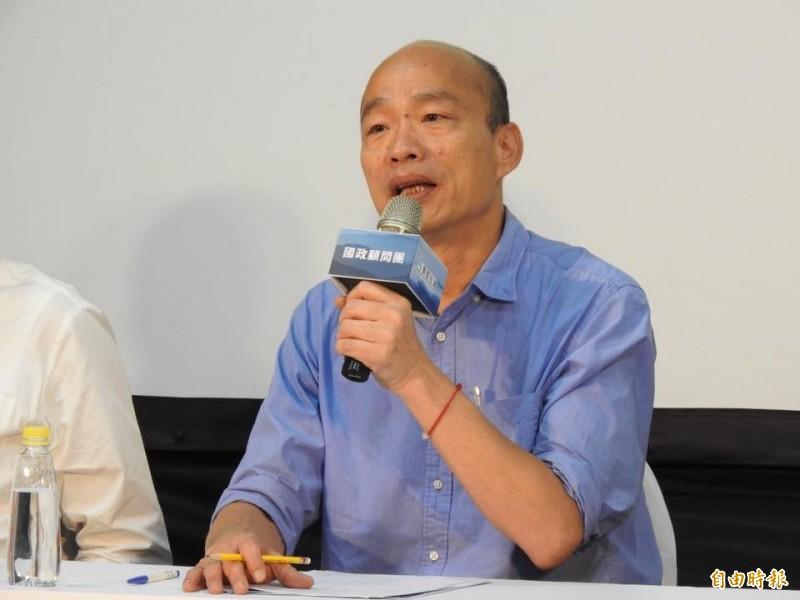 韓國瑜明赴美商會演講  談高雄市政與台灣未來