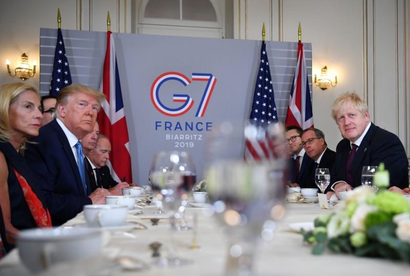 G7會強生  川普:「非常大」的貿易協議已呼之欲出