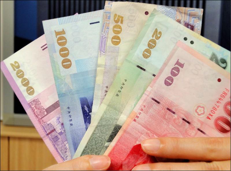 新台幣連4升 收31.25