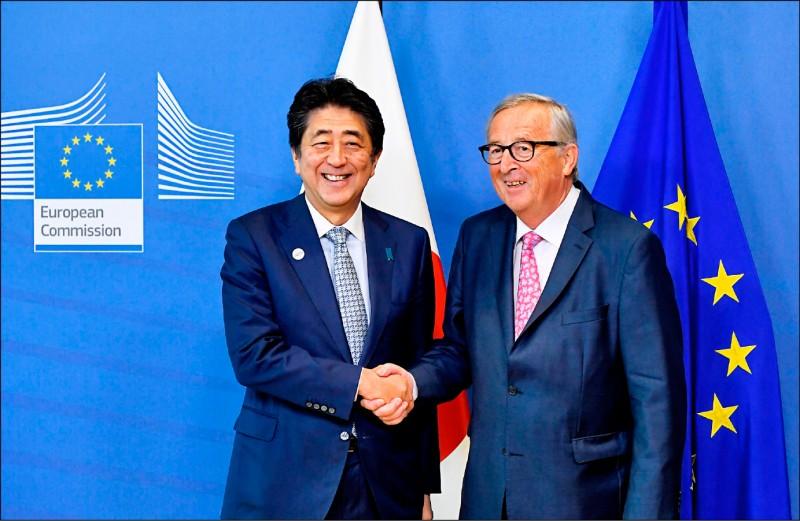 對抗中國一帶一路 日歐簽署基礎建設合作協議