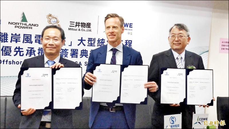 離岸風電大型統包工程 台船環海、海龍簽約