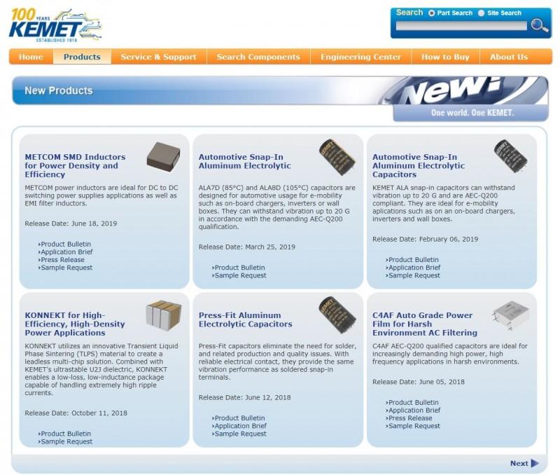 美國百年元件廠KEMET 廣泛應用高階車用、航太、5G
