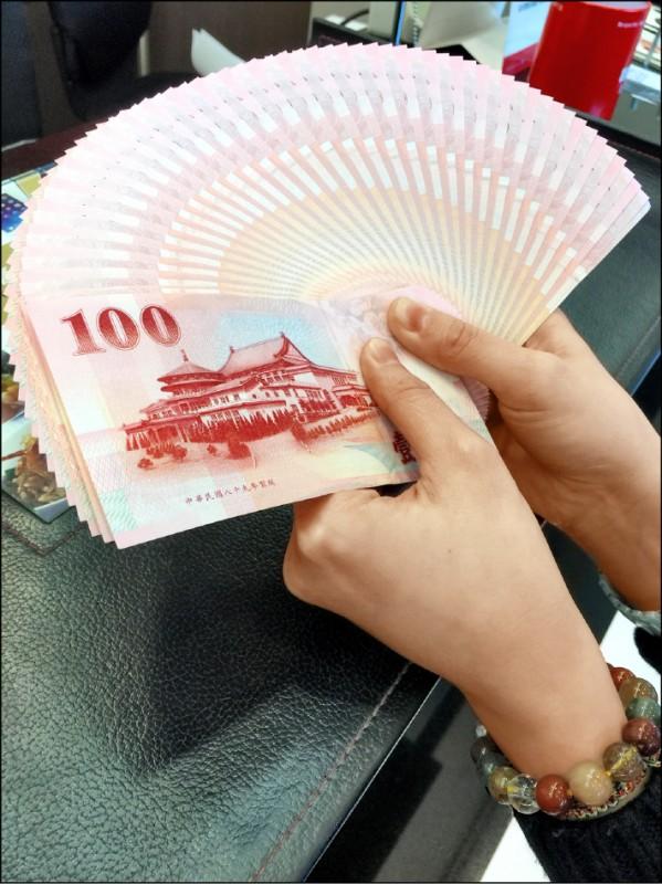 新台幣微升 收30.5元