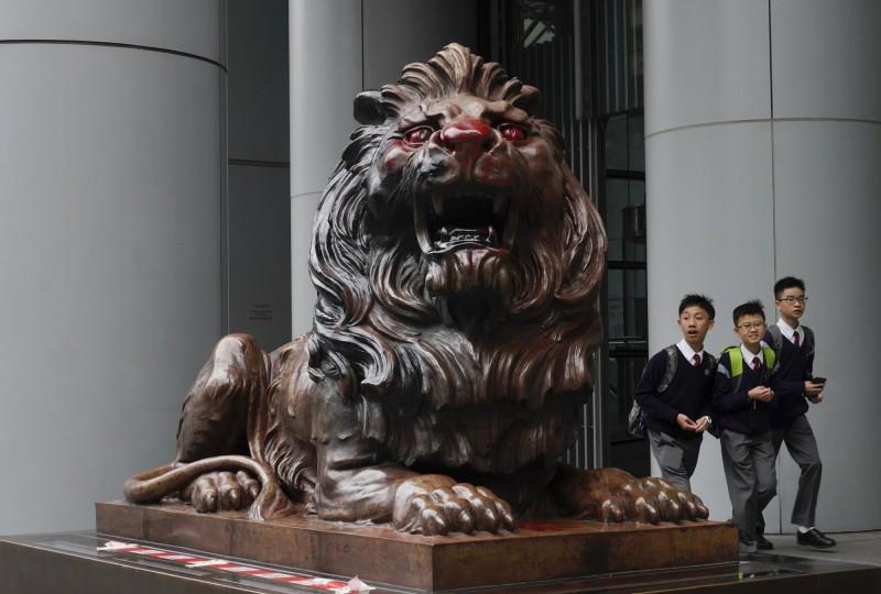 反送中抗爭不停《金融時報》:匯豐在港面臨3大風險