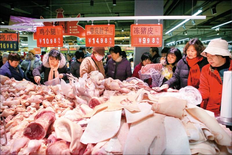 中國豬肉價 春節後恐再飆