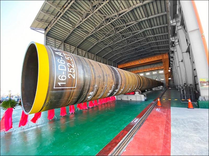 台電首支國產鋼管樁完工 一期風場年底發電