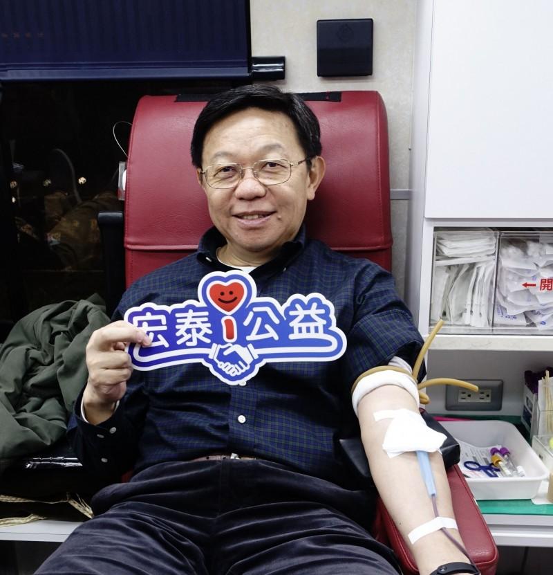 連7年公益不間斷 宏泰人壽去年捐血10萬cc送愛
