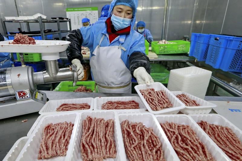 中國今年1月豬肉價年漲116%、整體食品價格漲20.6%