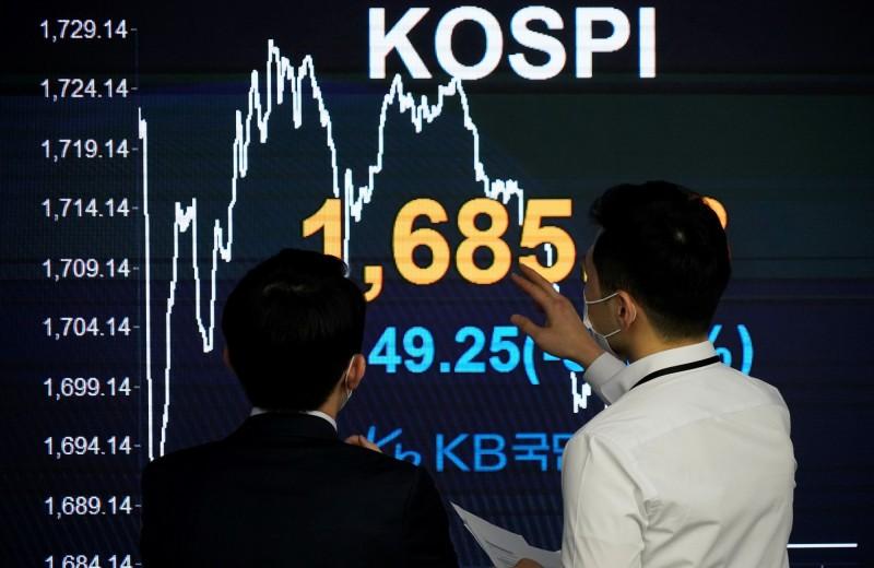 武漢肺炎》外資大逃離 2月淨賣出869億韓股