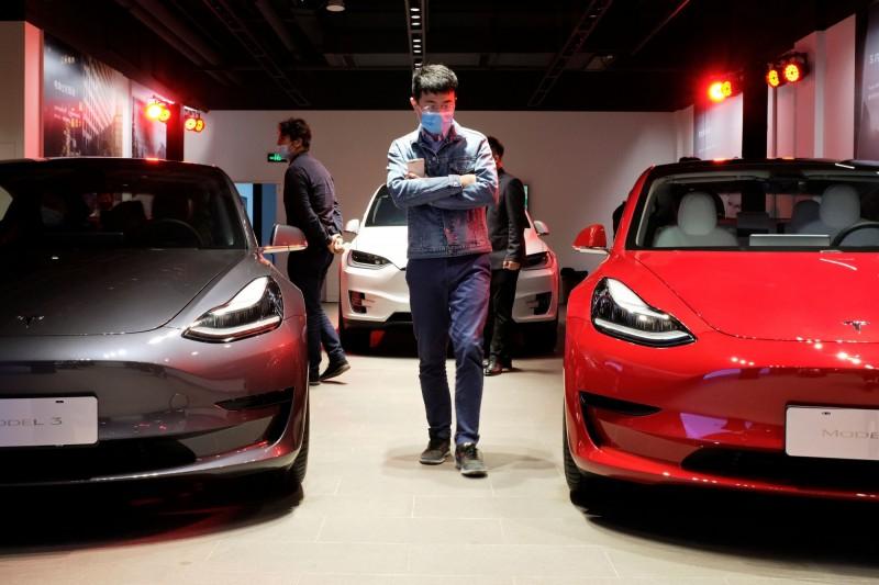 特斯拉4月份在中國的汽車註冊量月減64%