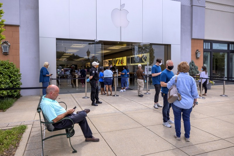 解封嚕!蘋果本週擬重新開放美國約100家門市