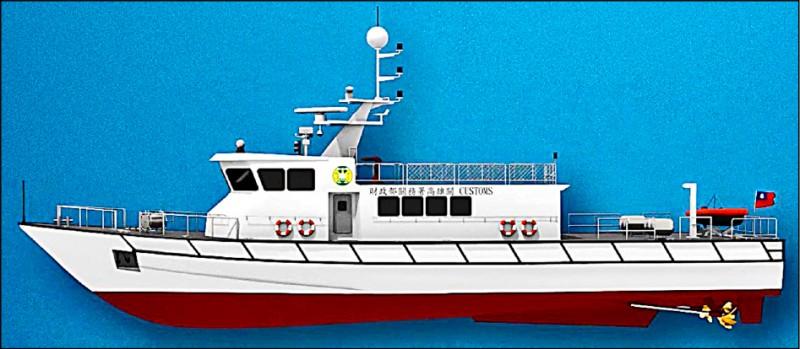 4艘100噸級巡緝艇 台船承造