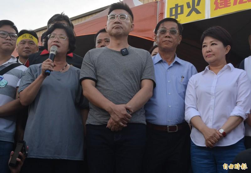 抗議中火重啟2號機 藍營主席率中彰投縣市長齊嗆聲