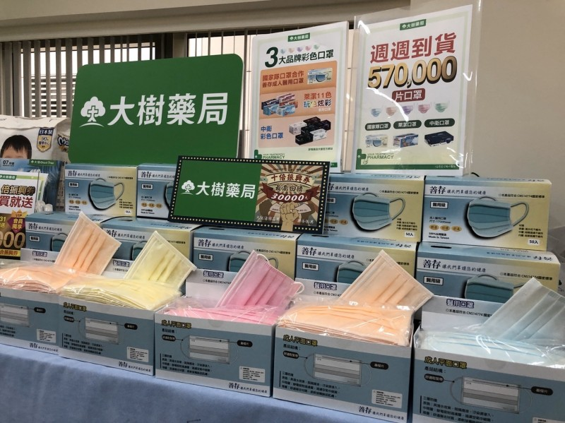 大樹藥局今起販售成人醫用口罩 每人每日限量1盒