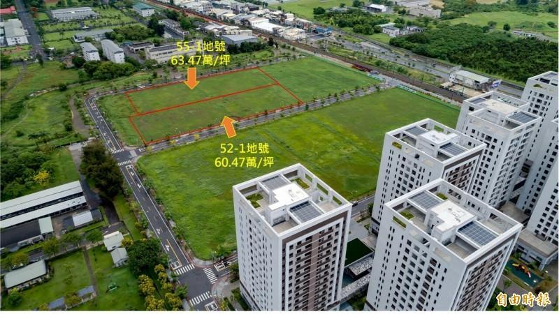 台南市土地標售9筆進帳近50億  溢價率逾48%