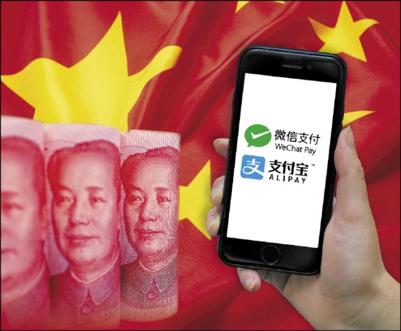中國人行強推數位貨幣 弱化支付雙強