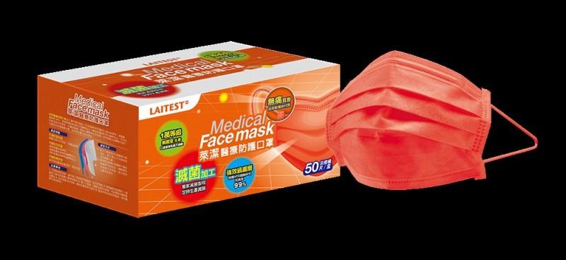 1.5萬盒「淡橙橘」醫療口罩 萊爾富19日開賣