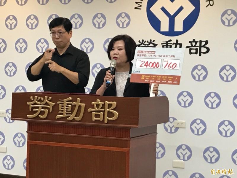 基本工資明年調升 勞動部:162.2萬台灣勞工受惠