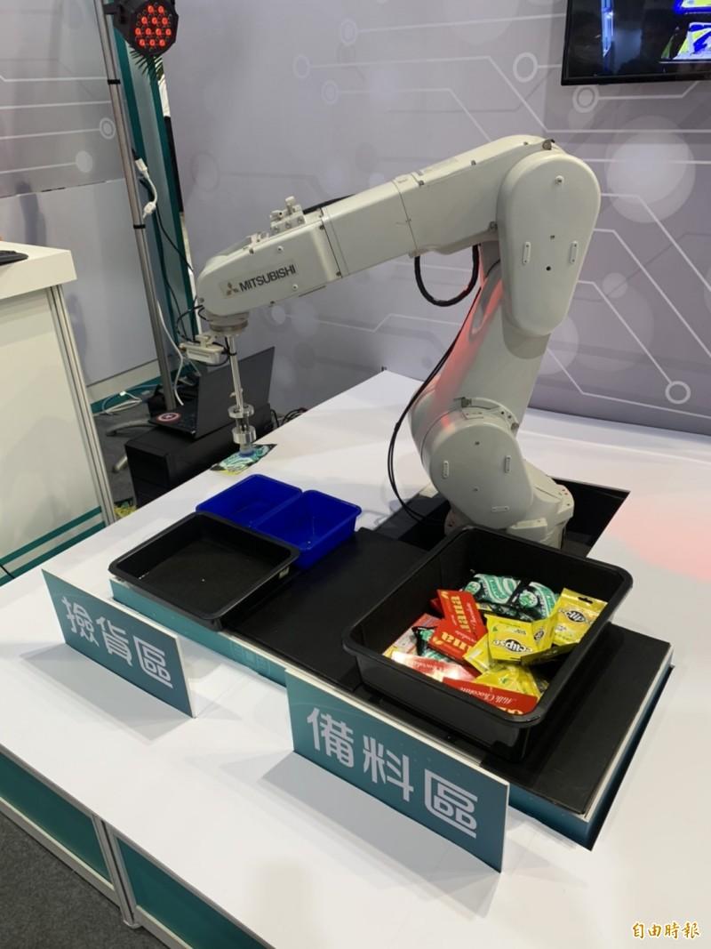 工研院智慧機器人秀實力 撿貨、備料難不倒