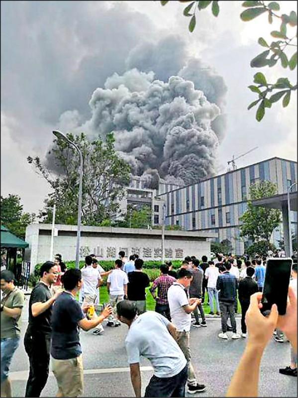 華為東莞基地 起大火