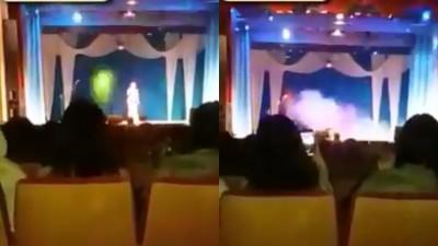 (影音)女歌手登台飆高音猝死  倒地重摔影片曝光!