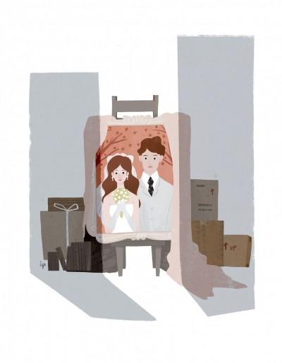 婚紗拍出來  竟被親友說像某神明