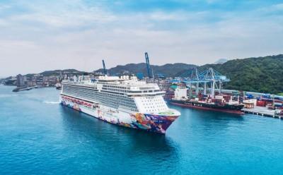 世界夢號郵輪航進台灣 創台灣郵輪最高噸位新紀錄