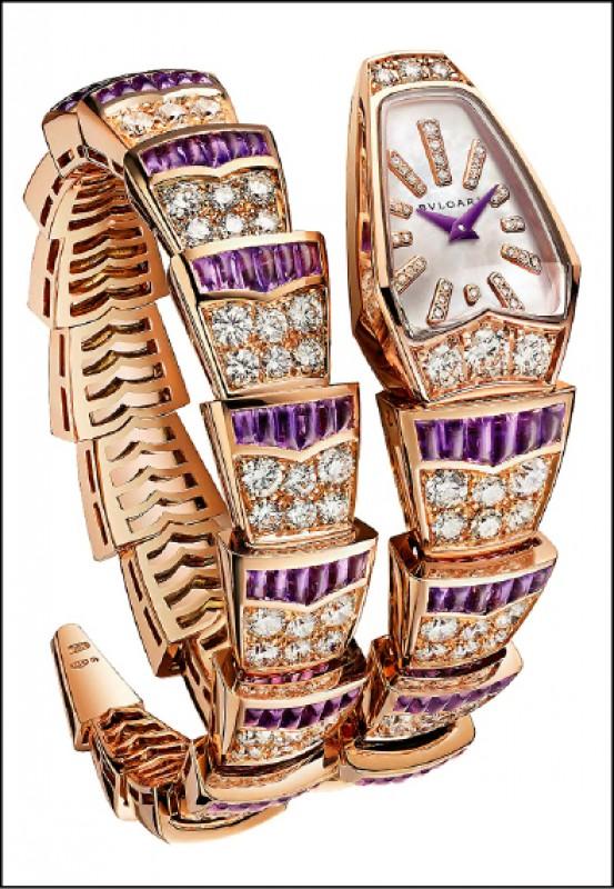 【消費新聞】寶格麗Serpenti腕錶 神秘紫水晶