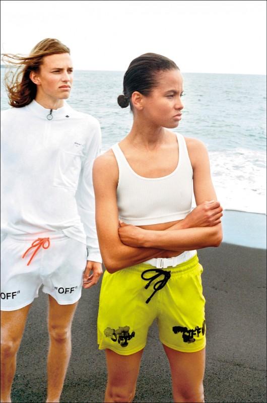 【時尚大道】輕「螢」一夏:Off-White,泳褲上的水漬LOGO