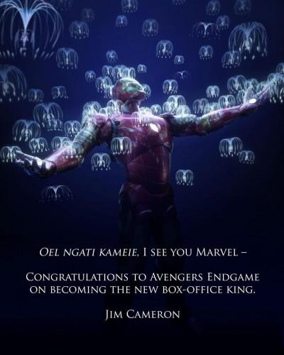 被《復仇者4》超車奪影史冠軍 《阿凡達》納美語致意