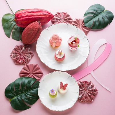 文華東方聯手雅詩蘭黛 紅寶石巧克力入味打造粉紅饗宴