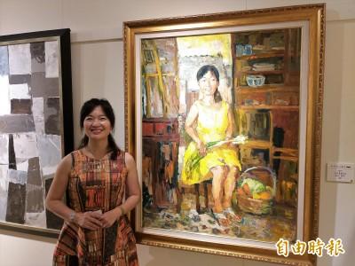 分享心中藝術花園 司法界畫家劉婷瑟舉行臺北首展