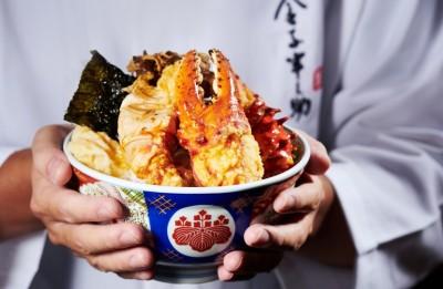 日本超狂帝王蟹天丼襲台 上市期間近半價可吃到